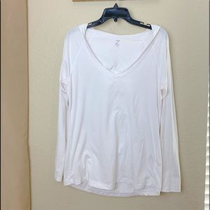 Z by Zella White Hoodie Pullover Ruched Back NWOT